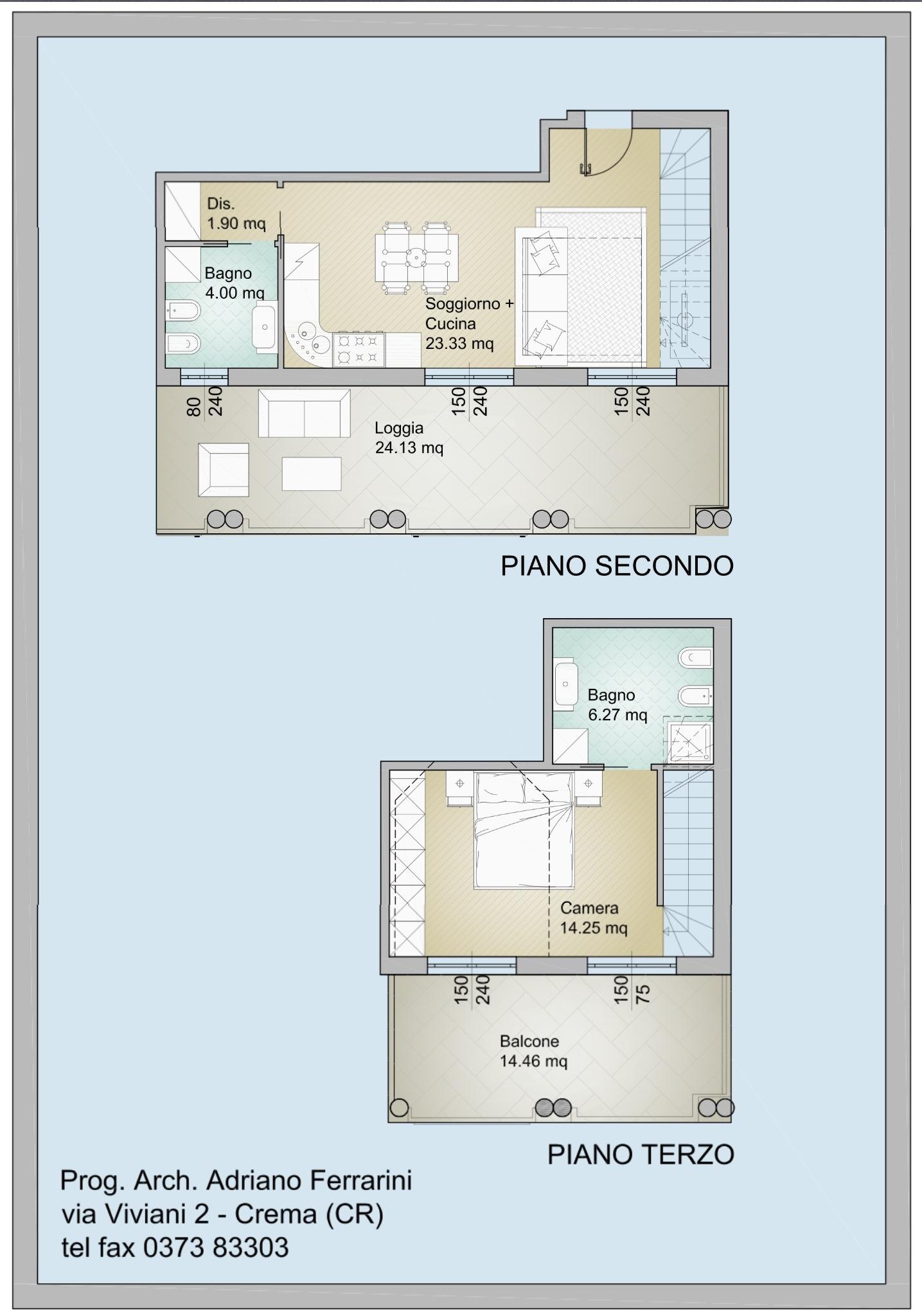 Annuncio rif cr01 immobiliare saletti for Monolocale dwg